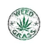 weed för rubber stämpel för grunge royaltyfri illustrationer