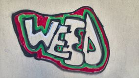 Weed Graffity Royalty Free Stock Images