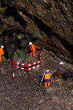 Weed miniature model workers K Stock Image