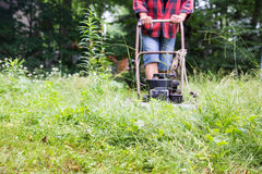 The weed mower Royalty Free Stock Images
