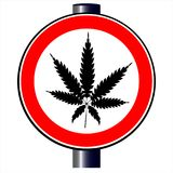 Weed. A road traffic sign declaring `weed`, isolated on white Royalty Free Stock Photography