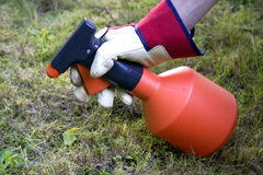 Weed spray royalty free stock image