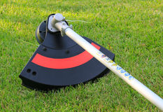 Weed trimmer. Part of weed trimmer, close-up Stock Image