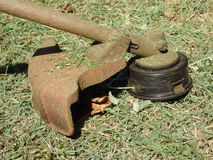 A weed-wacker at belmont house, bequia Royalty Free Stock Image