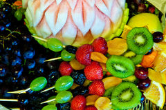 Natural fruits background Stock Photo