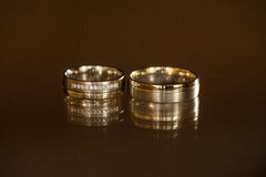Weeding rings with reflection Stock Image