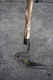 Weeds hook tool stock photo