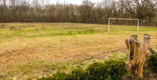 Free Weedy Rural Football Field In Hungary. Pasture. Royalty Free Stock Photos - 69061328