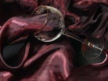 Weefsel en van geslepen glas stock foto