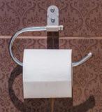 Weefsel in toilet royalty-vrije stock foto