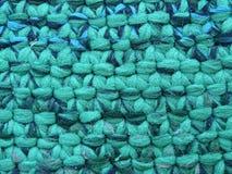 Weefsel van dikke groene draden Royalty-vrije Stock Foto