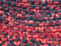 weefsel van dikke rode draden Stock Fotografie