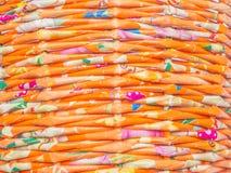 Weefsel van kleurrijk kringloopdocument Royalty-vrije Stock Foto