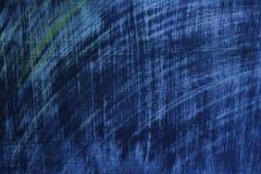 Weefselbeeld: heldere blauwe ruwe geschilderde oppervlakte Stock Foto's