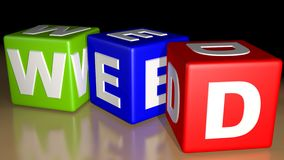 Week colored cubes - Wednesday Royalty Free Stock Photo