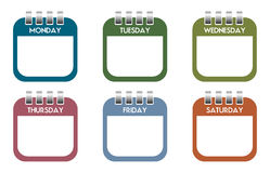 Week day calendar sheets Royalty Free Stock Photography