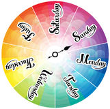 Week days clock Royalty Free Stock Image