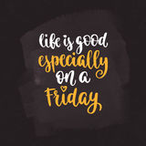 Week days motivation quotes. Friday. Royalty Free Stock Image