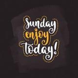 Week days motivation quotes. Sunday. Stock Images