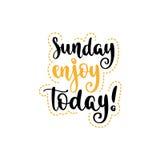 Week days motivation quotes. Sunday. Stock Photo