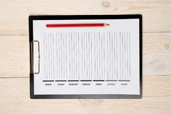 Week days organizer. On white office table stock images