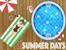 Week-end de jours d'été avec le wooman Photos stock
