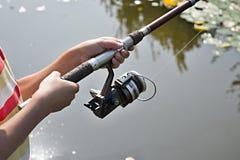 Week-end de maison de vacances Mes amours de fils aux poissons ! Mon petit pêcheur photographie stock
