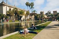 Week-end de stationnement de balboa, San Diego la Californie Image libre de droits