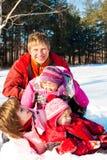 Week-end en stationnement de l'hiver Photographie stock libre de droits
