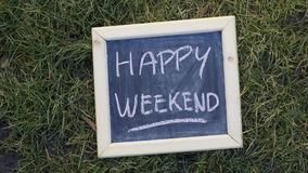 Week-end heureux Images libres de droits