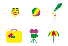 Week end icons Royalty Free Stock Photography