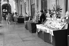 Week-end market. At Commercial Place, Lisbon, Portugal Royalty Free Stock Image