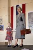 Week-end mi-Atlantique et reconstitution de la deuxième guerre mondiale de musée d'air dans le relevé Image libre de droits