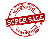 Week-end superbe de vente illustration stock
