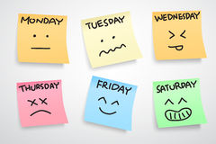 A week face expression Stock Photography
