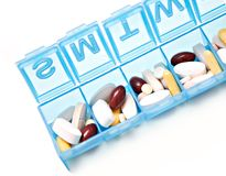 Week Pill Box Royalty Free Stock Photography