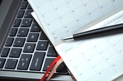 Week planner. Open diary, elegant pen and diary Stock Photography