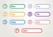 Week planner Royalty Free Stock Photos