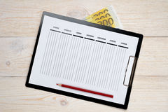 Week planner on white wood Royalty Free Stock Photos