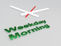Weekday Morning concept Stock Photography
