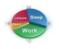 Weekday schedule concept Stock Photos