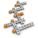 Weekdays Royalty Free Stock Photography