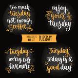 Weekdays motivation quotes big set. Royalty Free Stock Photo