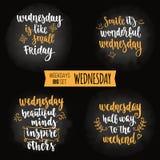 Weekdays motivation quotes big set. Royalty Free Stock Photography
