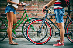Weekend with bicycles Stock Image