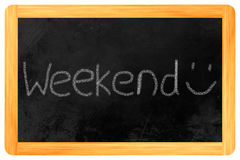Weekend on a blackboard Royalty Free Stock Photos
