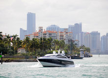 Weekend boating Stock Image