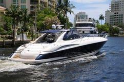 Weekend boating Stock Photo