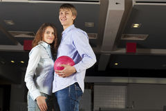 Weekend at bowling Royalty Free Stock Image