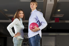 Weekend at bowling Stock Image